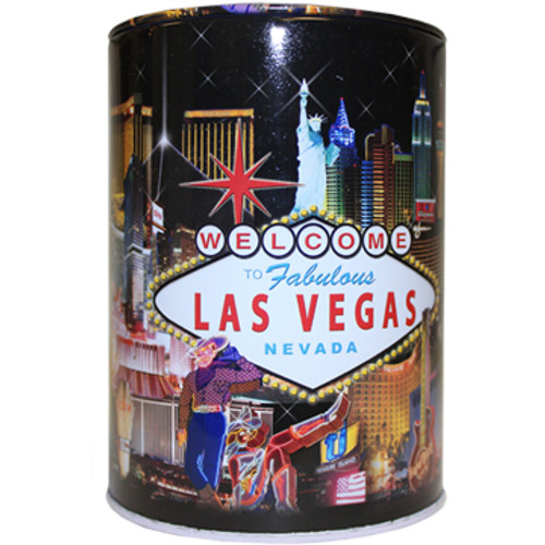 Tin Las Vegas Souvenir Savings Bank- Hotel Collage