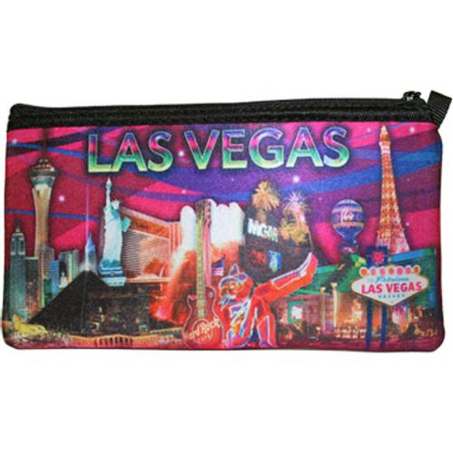 Las Vegas Pencil Case/Cosmetic Purse- Pink Design