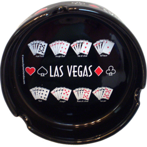 Las Vegas Souvenir Ashtray- Repeating Poker Hand