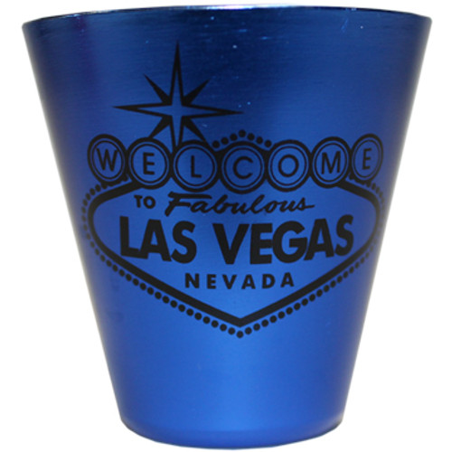 Las Vegas Stainless Steel Shotglass-BLUE