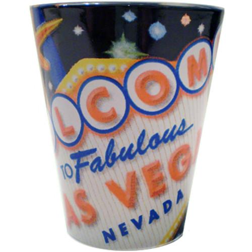 "Las Vegas ""Signage"" Design Shot Glass"
