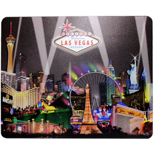 Las Vegas Black Spotlights Design on this Black Background Computer Mousepad.