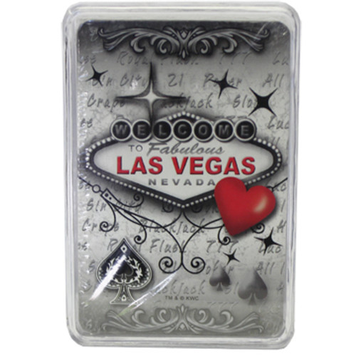 Las Vegas Red & Gray Playing Cards Souvenir