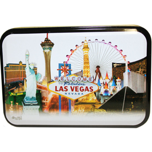 White Skyline Las Vegas Playing Cards in a TIN
