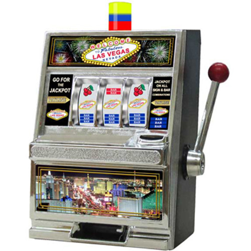 LAS VEGAS THEMED Slot Machine Coin Bank