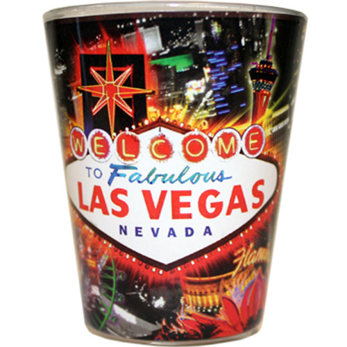 Las Vegas Shotglass Color Line