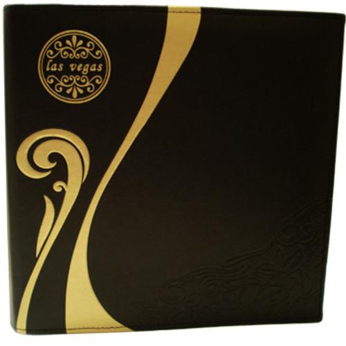 Black with Gold Scroll Las Vegas Photo Album