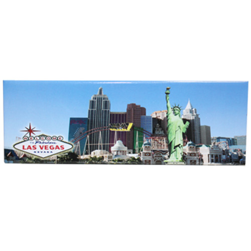 Las Vegas Magnet with View of the New York Casino rectangle magnet
