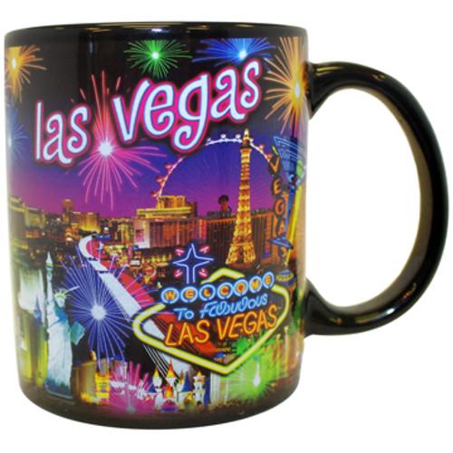 Neon Fireworks Las Vegas Mug