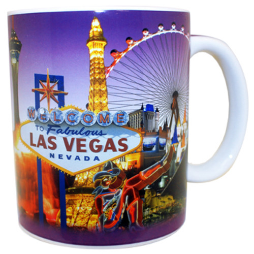 Las Vegas Purple Skyline Mug