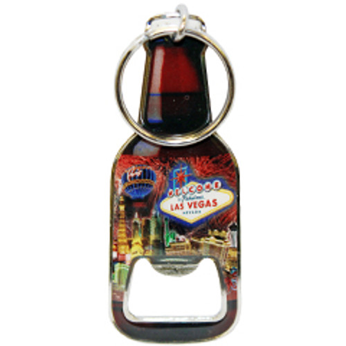 Shaped Like a Bottle, This Key Chain is Functional and Fun from Las Vegas because it's a bottle opener too.