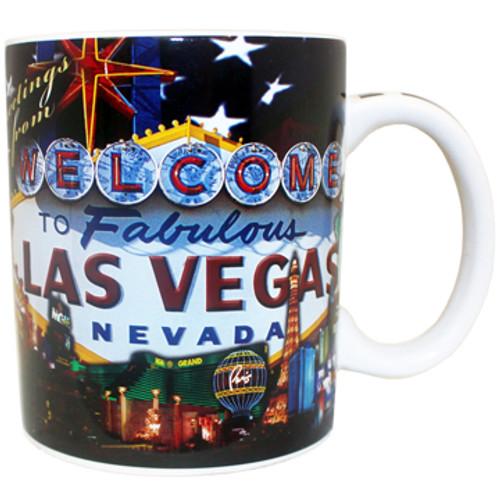 US Flag Las Vegas Nevada Ceramic Large Mug- 11oz.