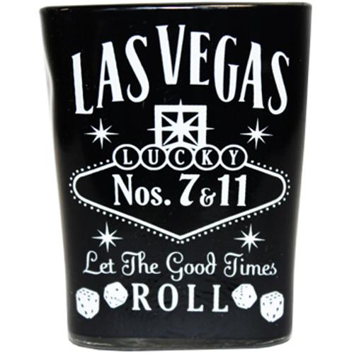 Black Whisky square Las Vegas Shot glass
