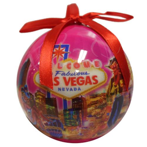 Ball Las Vegas ornament in a pretty Pink Skies design.