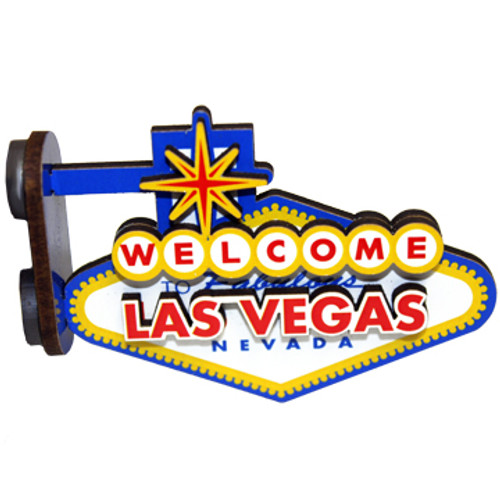Front of Las Vegas Sign Magnet 3-D sticks out from Surface. Welcome to Vegas