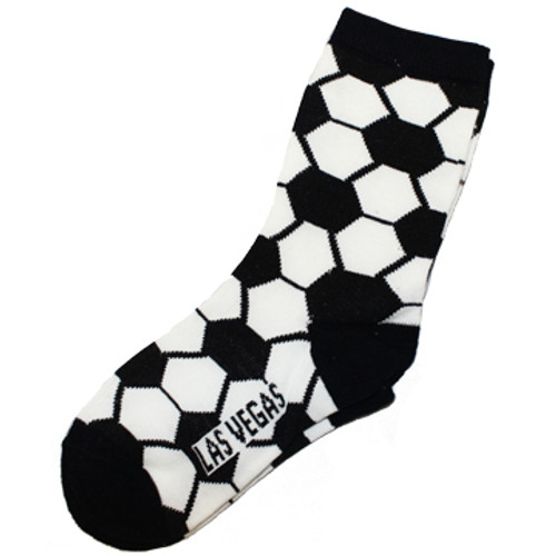 kid sized crazy las vegas souvenir socks with soccer balls