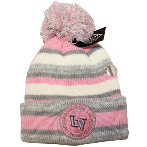 child toboggan from las vegas with pink and a puff
