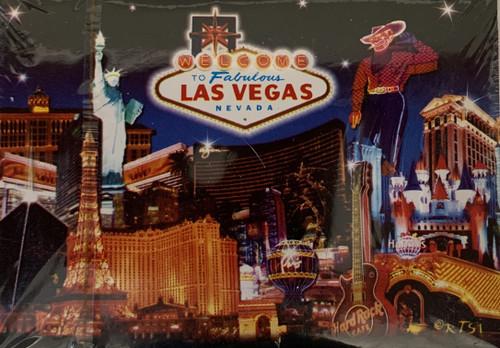 Old Vegas Mulit Icons Deck of Las Vegas Cards Blue Skyline