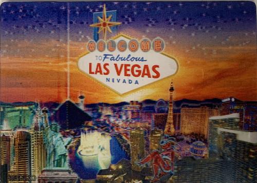 Las Vegas Sunset Holographic Magnet