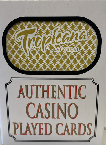 Tropicana Las Vegas Poker-Black Jack Playing Cards.