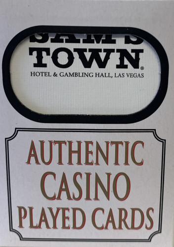 Sam's Town Las Vegas Poker-Black Jack Playing Cards.