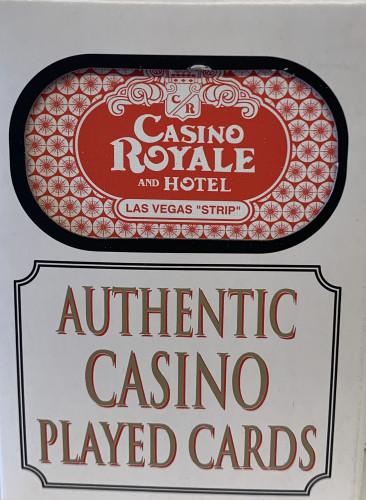 Casino Royale Las Vegas Poker-Black Jack Playing Cards.