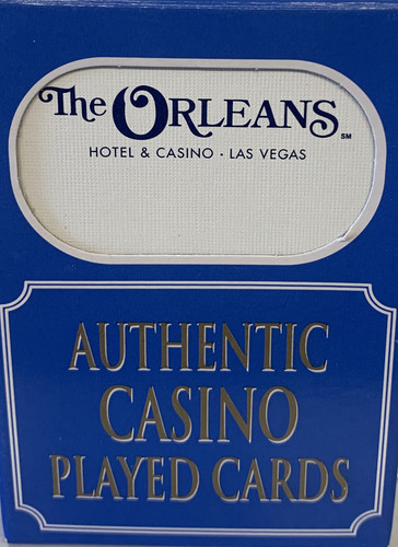 The Orleans  Las Vegas Poker-Black Jack Playing Cards.