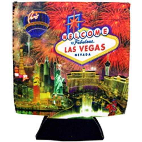 Las Vegas Firework design can coozie, drink cooler.