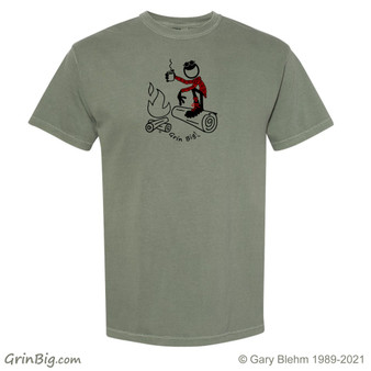 Camping Coffee T-Shirt 100% ring spun cotton, from Grin Big! Outdoors