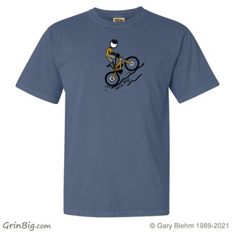 Mountain Bike T-Shirt, 100% ring spun cotton from Grin Big! Outdoors