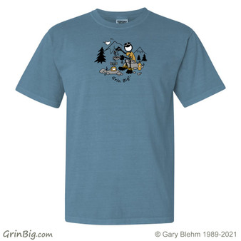 Camping T-Shirt  100% Cotton from Grin Big! Outdoors