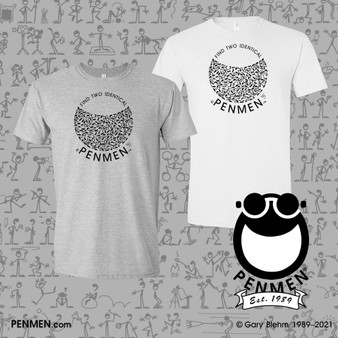 T-Shirt, Find Two Identical PENMEN with Smile Graphic