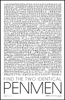 Interactive Search and Find PENMEN Poster 1989, Digitally Remastered Edition