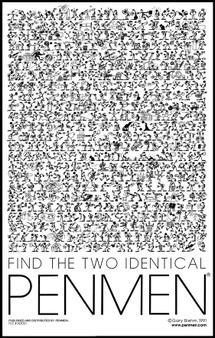 Find Two Identical PENMEN® 11 x 17 - 1991