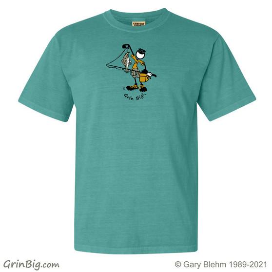 Fishing T-Shirt, 100% ring spun cotton, from Grin Big! ™ Outdoors
