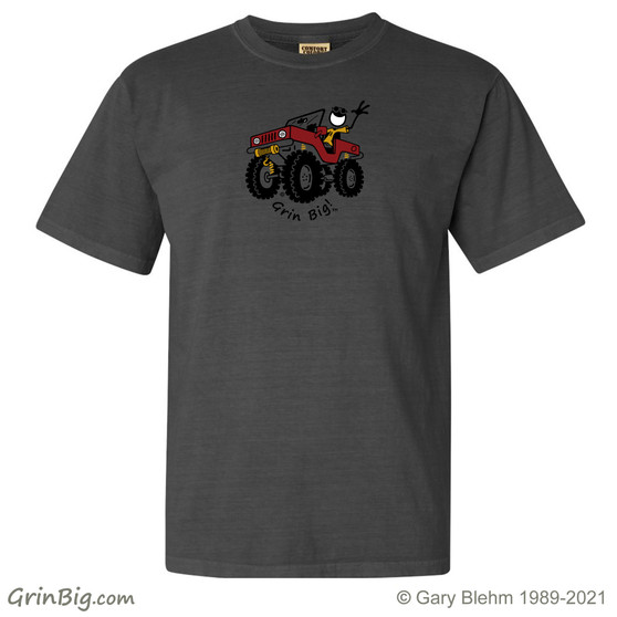 Jeep T-Shirt, 100% ring spun cotton, from Grin Big! Outdoors