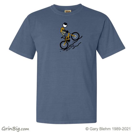 Mountain Bike T-Shirt, 100% ring spun cotton from Grin Big! Outdoors