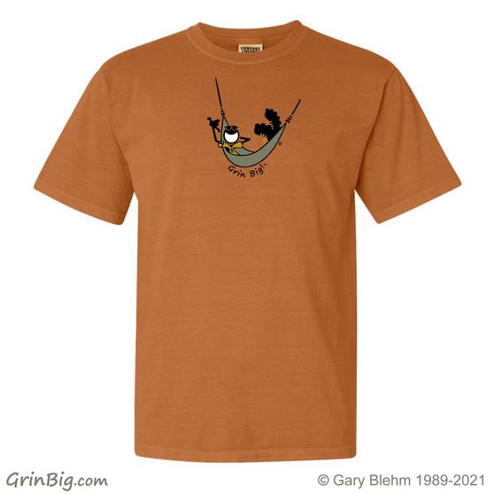 Hammock T-shirt, 100% ring spun cotton from Grin Big! Outdoors