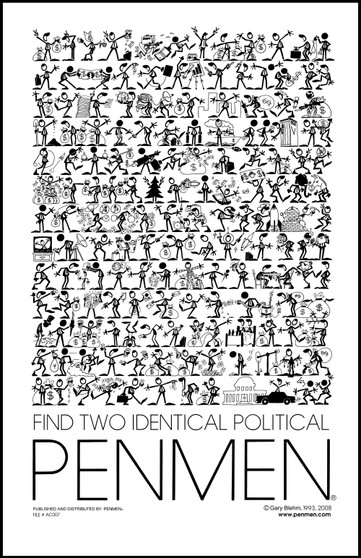 Find Two Identical Political PENMEN® 11 x 17 Poster / Print