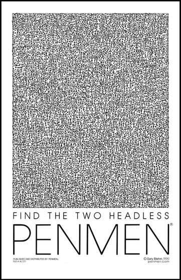 Find The Two Headless PENMEN® 11 x 17 Poster / Print