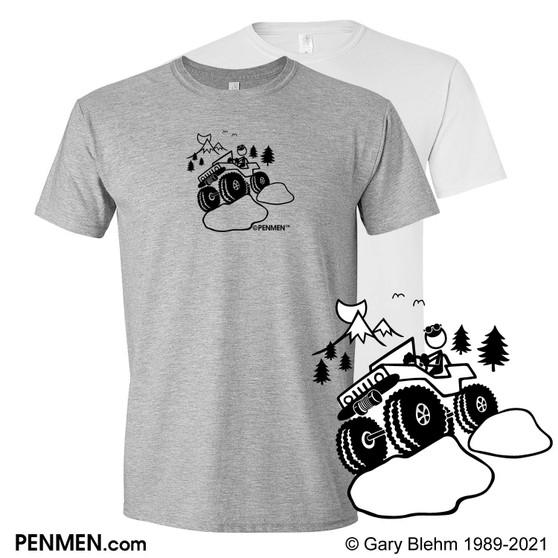 T-Shirt, Jeep Rock Crawler, by PENMEN