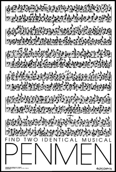 Find Two Identical Musical PENMEN® - 11 x 17, 1993
