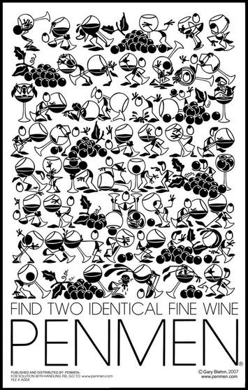 Find Two Identical Fine Wine PENMEN® 11 x 17