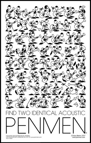 Find Two Identical Acoustic PENMEN® - 11 x 17