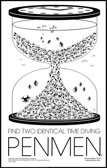 Find Two Identical Time Diving PENMEN® - 11 x 17