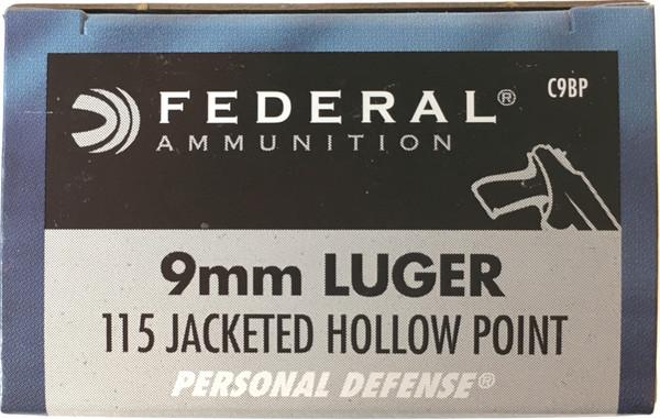 Federal Ammunition Person Defense 9mm Luger