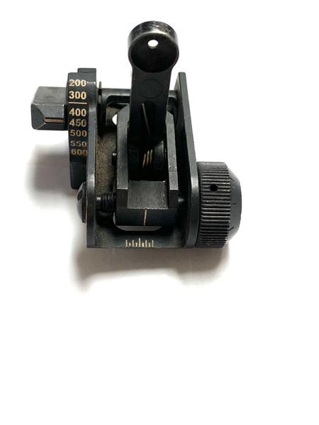 USGI Matech BUIS 600M Folding Rear Iron Sight