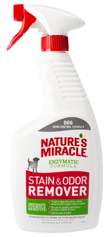 24oz Nature's Miracle Stain Odor Eliminator Spray