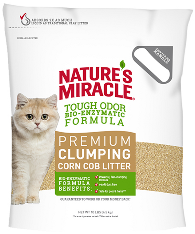 Nature's Miracle Clumping Corn Cob Cat Litter 10lb