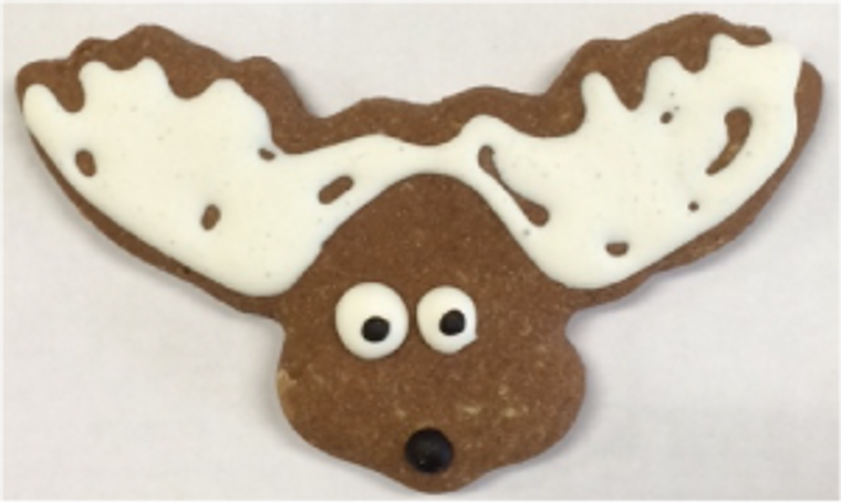 Andy's Dandys Dog Treat Decorated Moose